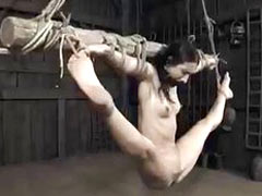 Acrobatic bondage session