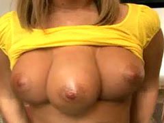Real girl with three tits