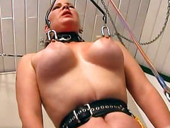 Hanged by her nipples